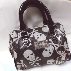 Betsey Johnson Mini Skull Crossbones Purse Bag